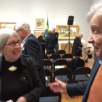 Glada möten i gallerisalen